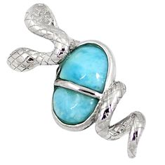 925 sterling silver natural blue larimar snake pendant jewelry a40208 c15395