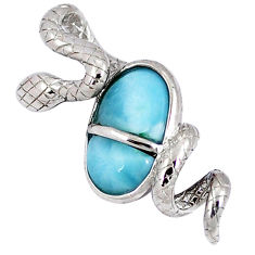 925 sterling silver natural blue larimar snake pendant jewelry a40275 c15398