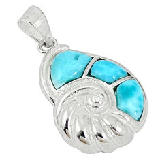 925 sterling silver natural blue larimar topaz pendant jewelry a56849 c14132
