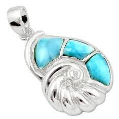 925 sterling silver natural blue larimar topaz pendant jewelry a63005 c14129