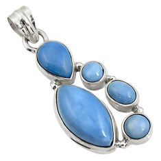 ver 14.26cts natural blue owyhee opal pendant jewelry d42451