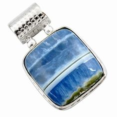 925 sterling silver 19.72cts natural blue owyhee opal pendant jewelry r27947