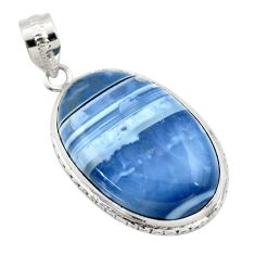 925 sterling silver 24.00cts natural blue owyhee opal pendant jewelry r32155