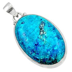 925 sterling silver 20.15cts natural blue shattuckite pendant jewelry r50493
