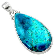 925 sterling silver 16.62cts natural blue shattuckite pendant jewelry r50512