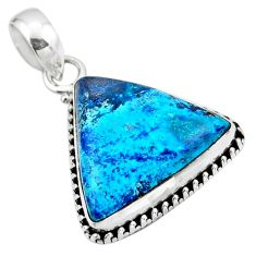 925 sterling silver 13.62cts natural blue shattuckite pendant jewelry r53859