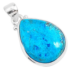 925 sterling silver 13.65cts natural blue shattuckite pendant jewelry r95006