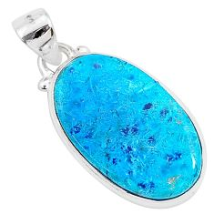 925 sterling silver 11.17cts natural blue shattuckite pendant jewelry r95012