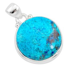 925 sterling silver 13.15cts natural blue shattuckite pendant jewelry r95039