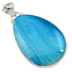 925 sterling silver 33.68cts natural blue swedish slag pendant jewelry d45250
