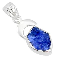 925 sterling silver 7.04cts natural blue tanzanite raw fancy pendant r80884