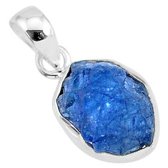 925 sterling silver 7.24cts natural blue tanzanite raw fancy pendant r91694