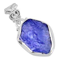 925 sterling silver 9.88cts natural blue tanzanite rough pendant jewelry r56584