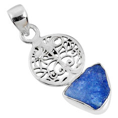 925 sterling silver 5.84cts natural blue tanzanite rough pendant jewelry r62067