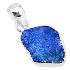 925 sterling silver 7.13cts natural blue tanzanite raw pendant jewelry r91698