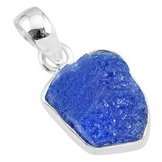 925 sterling silver 7.57cts natural blue tanzanite raw pendant jewelry r91714