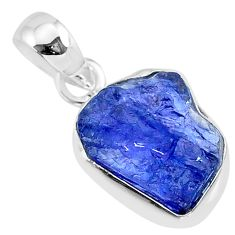925 sterling silver 6.78cts natural blue tanzanite raw pendant jewelry r91720
