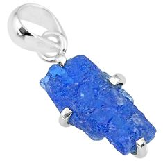 925 sterling silver 7.80cts natural blue tanzanite raw pendant jewelry r91727