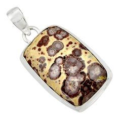 Clearance Sale- 925 sterling silver 24.00cts natural brown asteroid jasper pendant d41614