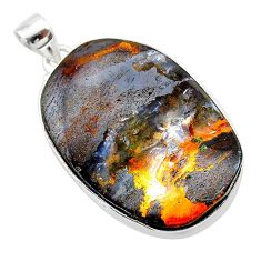 925 sterling silver 32.70cts natural brown boulder opal pendant jewelry t22374