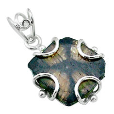 925 sterling silver 13.08cts natural brown chiastolite pendant jewelry t49480