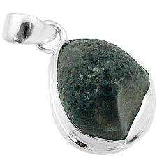 925 sterling silver 7.79cts natural brown chintamani saffordite pendant t58200