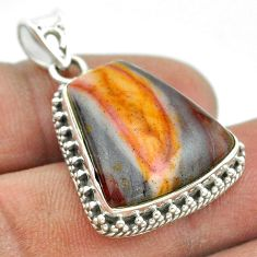 925 sterling silver 16.65cts natural brown mookaite pendant jewelry t53458
