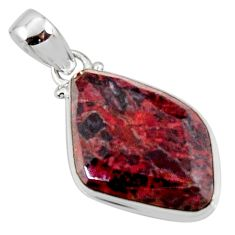 925 sterling silver 15.65cts natural brown pietersite (african) pendant r51099