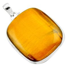 925 sterling silver 32.73cts natural brown tiger's eye pendant jewelry r53949