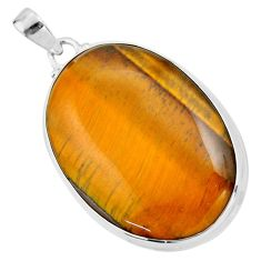 925 sterling silver 29.34cts natural brown tiger's eye pendant jewelry r53956