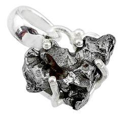 925 sterling silver 8.95cts natural campo del cielo (meteorite) pendant t10776