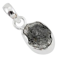 925 sterling silver 2.80cts natural diamond rough fancy pendant jewelry r79110