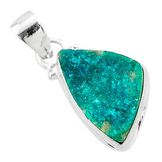 925 sterling silver 7.50cts natural dioptase fancy pendant jewelry t3172