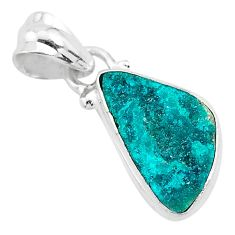 925 sterling silver 5.88cts natural dioptase fancy pendant jewelry t3192