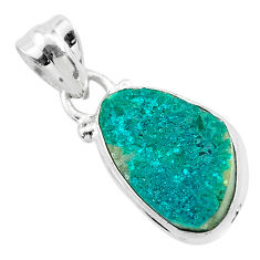 925 sterling silver 6.59cts natural dioptase fancy pendant jewelry t3196