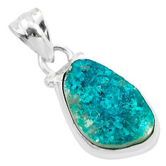 925 sterling silver 6.59cts natural dioptase fancy pendant jewelry t3199