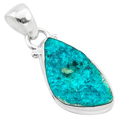 925 sterling silver 7.50cts natural dioptase fancy pendant jewelry t3216