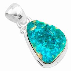 925 sterling silver 8.56cts natural dioptase fancy pendant jewelry t3224