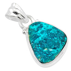 925 sterling silver 7.63cts natural dioptase fancy pendant jewelry t3230