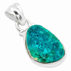 925 sterling silver 8.45cts natural dioptase fancy pendant jewelry t3236