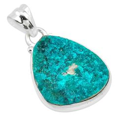 925 sterling silver 11.73cts natural dioptase fancy pendant jewelry t3243