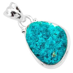925 sterling silver 7.96cts natural dioptase fancy pendant jewelry t3254