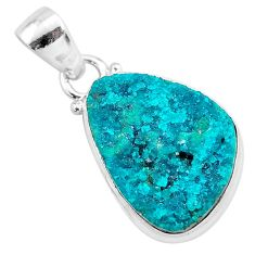 925 sterling silver 10.28cts natural dioptase fancy pendant jewelry t3259