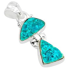 925 sterling silver 9.26cts natural dioptase fancy pendant jewelry t5813