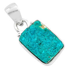 925 sterling silver 5.13cts natural dioptase octagan pendant jewelry t3219
