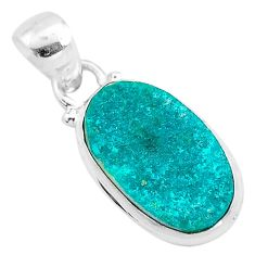 925 sterling silver 8.07cts natural dioptase oval pendant jewelry t3204