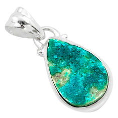 925 sterling silver 8.33cts natural dioptase pear pendant jewelry t3163