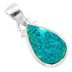 925 sterling silver 7.50cts natural dioptase pear pendant jewelry t3169