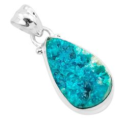 925 sterling silver 8.87cts natural dioptase pear pendant jewelry t3213