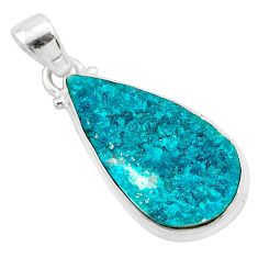 925 sterling silver 11.25cts natural dioptase pear pendant jewelry t3249